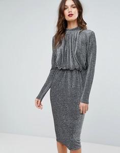 Платье с блестками Y.A.S - Серебряный