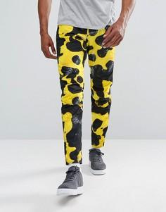 Джинсы с камуфляжным принтом G-Star Elwood 5622 x 25 Pharrell - Желтый