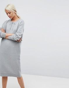 Платье-свитшот Selected - Серый