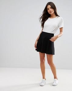 Расклешенная мини-юбка JDY - Черный