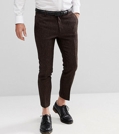 Укороченные брюки скинни с шевронным узором Heart & Dagger - Коричневый