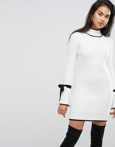 Платье с завязками на рукавах Morgan - Кремовый