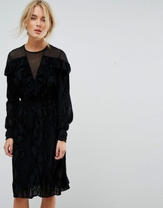 Платье с сетчатыми вставками Gestuz - Черный