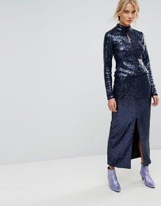 Длинная юбка с пайетками Gestuz - Синий