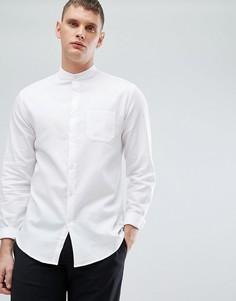 Белая строгая рубашка с воротником на пуговице Lindbergh - Белый