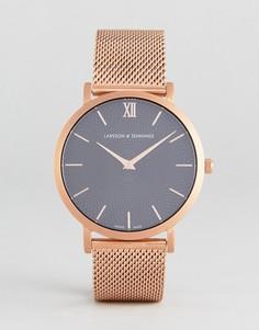 Часы с сетчатым ремешком Larsson & Jennings LGN40 Lugano & Norse Sloane - Золотой