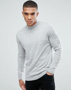 Серый меланжевый джемпер с воротником-стойкой New Look - Серый
