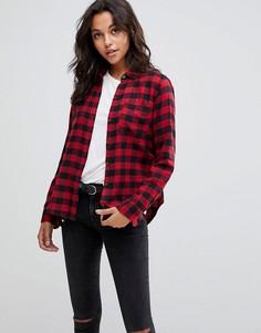 Рубашка в клетку Abercrombie & Fitch - Красный