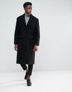 Трикотажное пальто Weekday Zeke - Черный