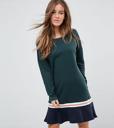 Платье с оборкой на подоле Noisy May Petite - Зеленый