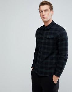 Рубашка узкого кроя в клетку Burton Menswear - Черный