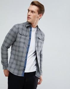 Рубашка узкого кроя в клетку Burton Menswear - Серый