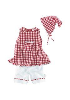 Комплект, 3 части: платье, брюки, платок KLITZEKLEIN