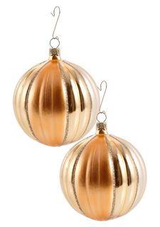 """Рифленый шарик """"Goldmarie"""", 2 штуки"""
