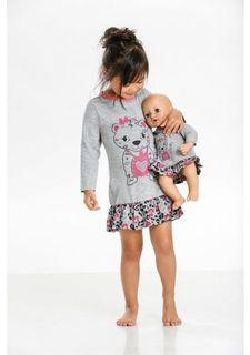 Комплект, 2 части: ночная сорочка + платье для куклы