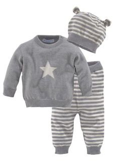 Комплект, 3 части: брюки + пуловер + шапка KLITZEKLEIN