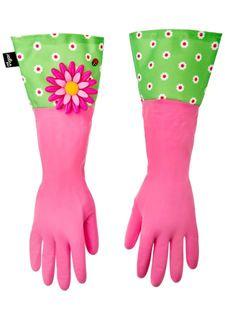 Перчатки для уборки FLOWER POWER VIGAR