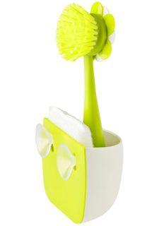 Щетка и губка для мытья посуды на подставке FLOR VIGAR