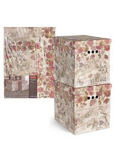 Короб картонный складной в комплекте (2 шт.) VINTAGE FLOWERS Valiant