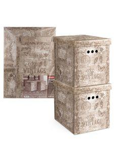 Короб картонный складной в комплекте (2 шт.) VINTAGE Valiant