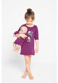 Комплект, 2 части: ночная сорочка + ночная сорочка для куклы