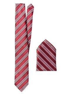 Комплект: галстук + карманный платок
