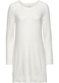 Вязаное платье в стиле оверсайз (кремовый) Bonprix