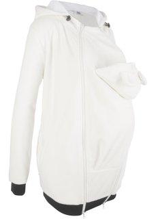 Флисовая куртка для беременных и молодых мам с карманом для малыша (кремовый) Bonprix