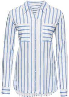 Блузка (белый/синий в полоску) Bonprix