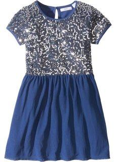 Тюлевое платье с пайетками (темно-синий) Bonprix