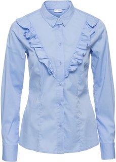 Блузка с воланом (синий жемчуг) Bonprix