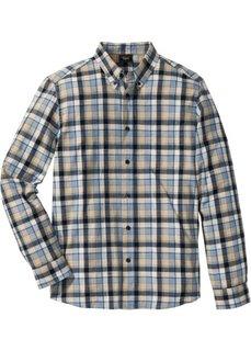 Клетчатая рубашка Regular Fit с длинным рукавом (темно-синий/нежно-голубой в клетку) Bonprix