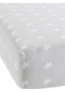 Эластичная простыня на резинке Звезды (серый) Bonprix