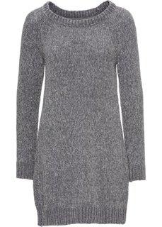 Вязаное платье в стиле оверсайз (серый) Bonprix