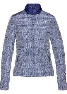 Стеганая куртка (ночная синь/кремовый с рисунком) Bonprix