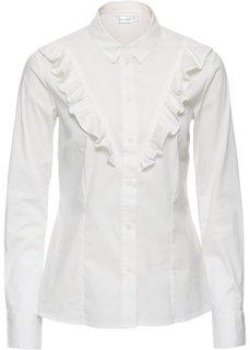 Блузка с воланом (кремовый) Bonprix