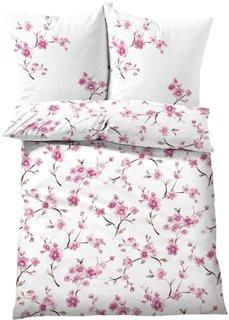 Постельное белье Цветущая вишня, линон (розовый) Bonprix