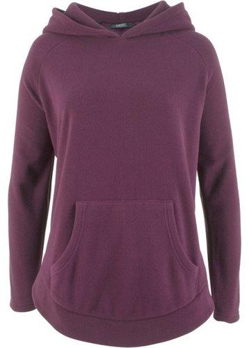 Флисовый пуловер-пончо (цвет бузины)