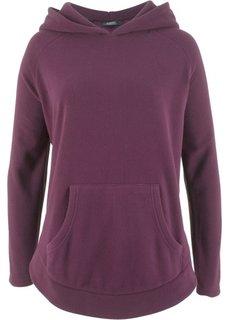 Флисовый пуловер-пончо (цвет бузины) Bonprix