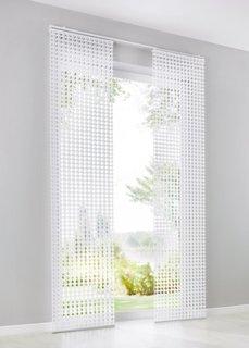 Японская штора с эффектом 3Д (1 шт.), Шина с лентой велкро (белый) Bonprix