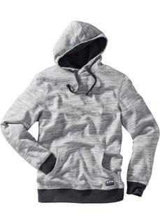 Меланжевый свитшот Regular Fit с капюшоном (серый меланж) Bonprix