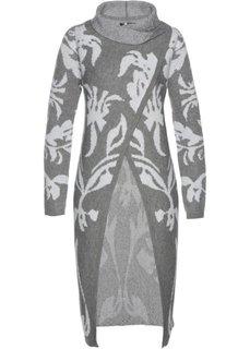 Вязаное пальто (дымчато-серый/белый) Bonprix