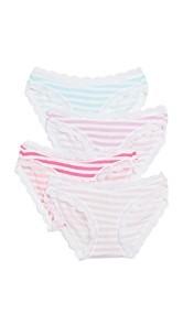 Cheek Frills Stripes 4 Pack Panties