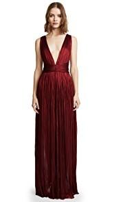 Maria Lucia Hohan Deep Neck Floor Length Dress