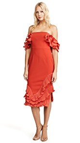 Talulah Rosa Ruffle Midi Dress