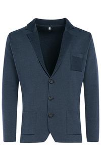 Синий трикотажный пиджак Al Franco
