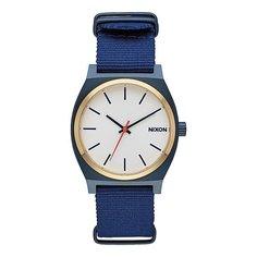 Кварцевые часы Nixon Time Teller Blue/Gold/White