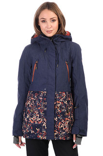 Куртка утепленная женская Roxy Tribe Peacoat_waterleaf