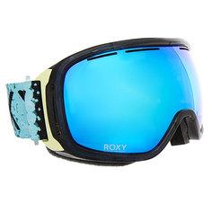 Маска для сноуборда женская Roxy Rockferry Aruba Blue lizzydots