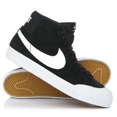 Кеды кроссовки высокие Nike Sb Blazer Zoom Mid Xt Black/White